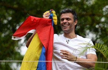 López, el día de su arresto, en febrero de 2014.