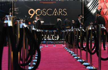 La alfombra roja de Hollywood ya está lista para esta noche.
