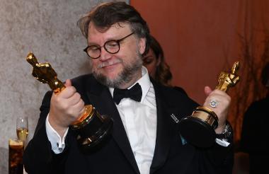 """El mexicano Guillermo del Toro, gran ganador como Mejor Película y Mejor Director con """"La forma del agua""""."""
