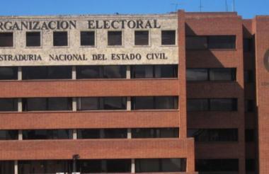 Fachada de la Registraduría Nacional.