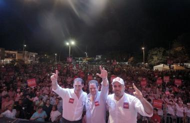 Diazgranados, Vargas y Amar, en Soledad.