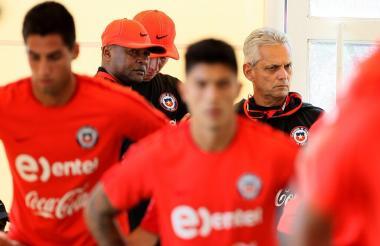 R. Rueda, en una práctica de la selección austral.