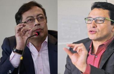 Petro y Caicedo, quienes se enfrentarán el 11 de marzo.