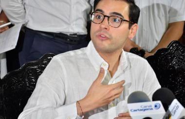 El alcalde de Cartagena (e), Sergio Londoño.