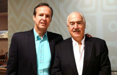 El expresidente Andrés Pastrana con el exmandatario de Bolivia, Jorge Quiroga, viajaron juntos a La Habana.