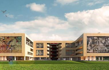 'Render' que muestra el diseño del proyecto del nuevo edificio de Bellas Artes.