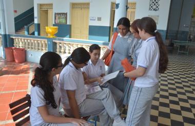 Estudiantes del Colegio María Auxiliadora, 'Mauxi', de Barranquilla.