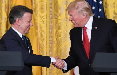 Santos visitó a Trump en la Casa Blanca en 2017.