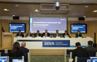 Asamblea de accionistas de BBVA realizada en Bogotá.