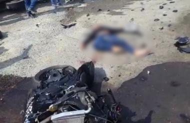Este accidente sucedió en la vía al mar entre Barranquilla y Cartagena en el kilómetro 60.