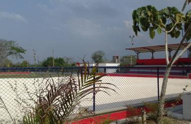 Este es el estadio de sótbol del municipio de Sabanalarga.