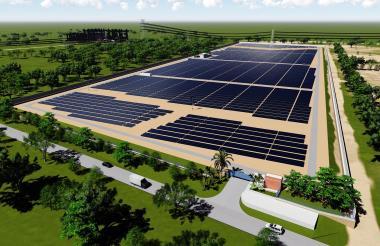 Páneles fotovoltaicos.
