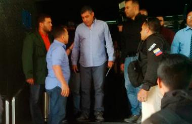 Miguel Rodríguez en el momento de ser capturado.