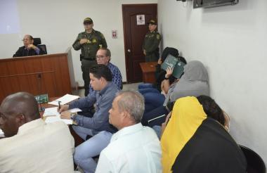 Aspecto de la audiencia realizada este martes en el Centro de Servicios Judiciales.