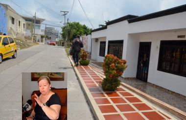 En esta cuadra del barrio La María ocurrió el hecho. En el recuadro, Zoila Ibarra, la abuela del menor al que le robaron el morral.