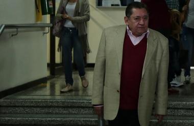 El exsenador Félix Salcedo Baldion cuando asistía a la audiencia de legalización de captura, imputación de cargos y medidas de aseguramiento.