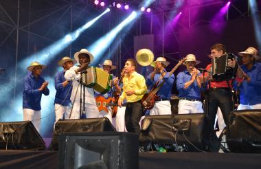Imagen de un conjunto vallenato en el Festival Francisco el Hombre 2017.