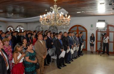 Los grados se llevaron a cabo en el salón Cayena, de la Casa Club Caribe.