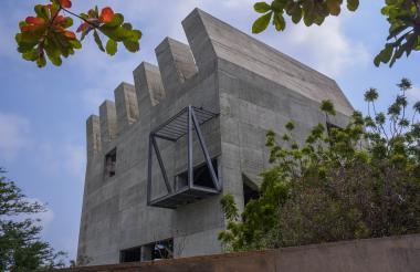 Aspecto de la zona externa del Museo de Arte Moderno de Barranquilla.