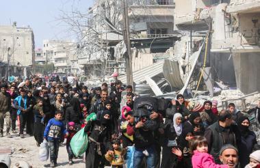 Evacuación en Jisreen