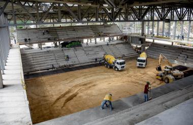 Panorámica del Palacio de Combates, escenario construido para los Juegos Centroamericanos y del Caribe.