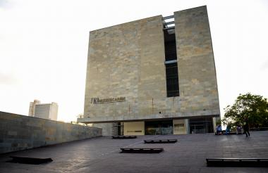 Fachada del Parque Cultural del Caribe. Allí funciona el Museo del Caribe 'Gabriel García Márquez'.