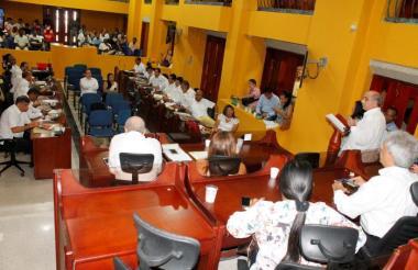 Aspecto del Concejo de la ciudad de Cartagena.