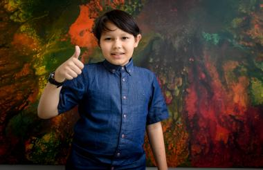 Santiago Rivera Suárez, de nueve años.