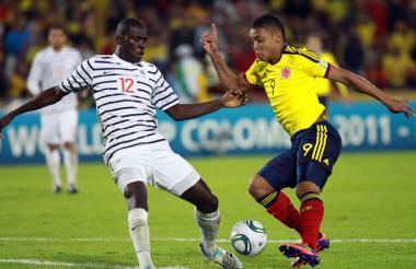 El jugador colombiano Luis Fernando Muriel durante un partido con la Selección.