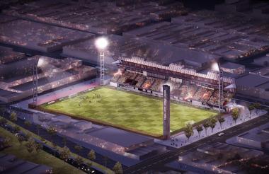 Este es el render del nuevo estadio Moderno Julio Torres para los Juegos 2018.