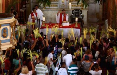 Celebración eucarística del Domingo de Ramos, en el inicio de la Semana Santa.