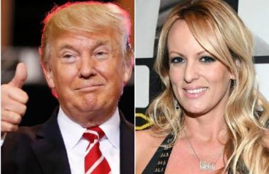 Donald Trump y Stormy Daniels, la actriz porno.