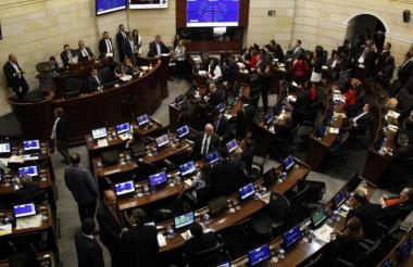 Instalaciones internas del Congreso de la República.