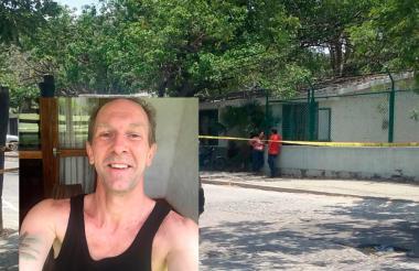 En este sitio fue baleado Patrick Jhonson (recuadro) el ciudadano sueco que murió durante un atraco.