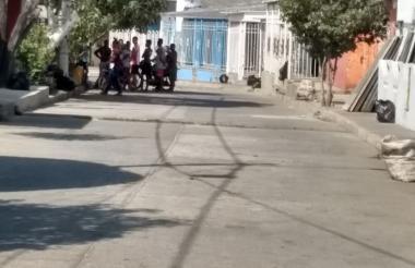 Sector del barrio La Sierrita donde fue asesinado Luis Alfonso Herrera Jiménez.