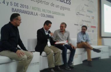Efraín Cepeda, José A. Vargas Lleras, Eduardo Verano y Alejandro Lucio.