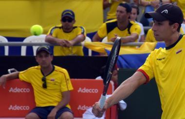 Daniel Galán sumó el primer punto de Colombia en la serie ante Brasil por la Copa Davis.