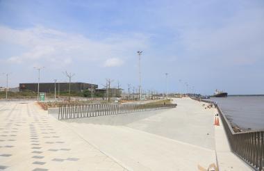 Este el Gran Malecón del Río, donde en horas de la tarde se festejará el cumpleaños de Barranquilla.