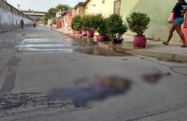 Carrera 35B con calle 8, barrio Rebolo, lugar donde ocurrió uno de los homicidios.