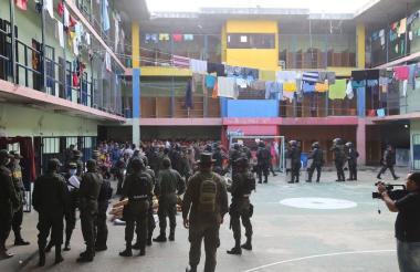 Aspectos de la cárcel La Vega, en Sincelejo.