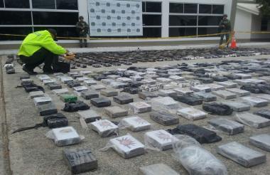 La droga estaba marcada con el sello del Cartel de Sinaloa.
