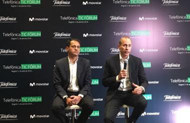Fabian Hernández, Presidente CEO de Telefónica Movistar Colombia y Luis Martín, director B2B de Telefónica Colombia.