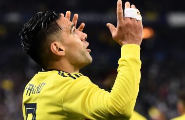 Falcao celebra su tanto marcado ante Francia en la pasada fecha Fifa.