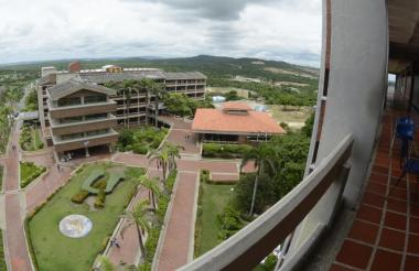 Panorámica aérea de la Universidad del Atlántico.