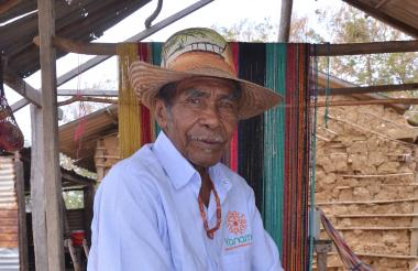José Vicente Cotes, palabrero wayuu de la comunidad indígena El Pasito.