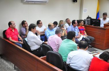 Los detenidos comparecen a la audiencia que se desarrolló en Valledupar.
