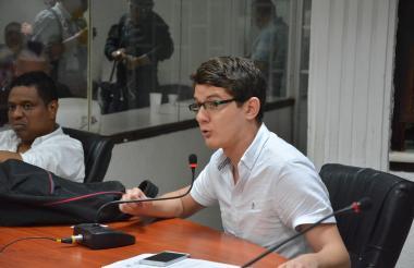 José Cadena Bonfanti durante una sesión del Concejo de Barranquilla.