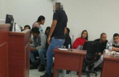Los detenidos durante las audiencias preliminares en su contra.