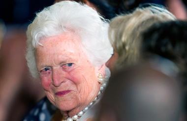 Barbara Bush, de 92 años.