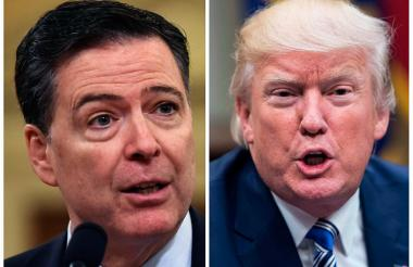 James Comey, exdirector del FBI, y Donald Trump, presidente de Estados Unidos.